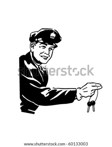 Car Jockey - Retro Clip Art