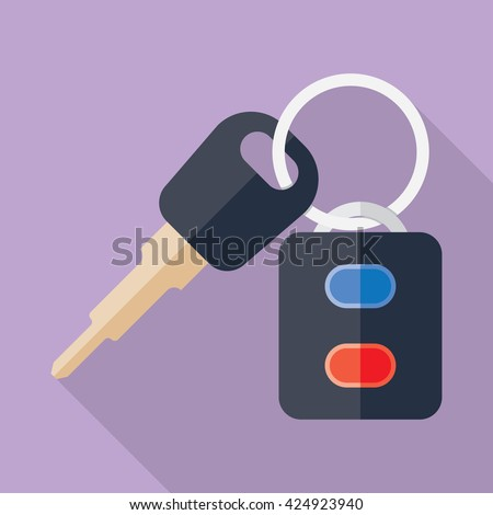 Car Key and of the alarm system. Vector - stock vector