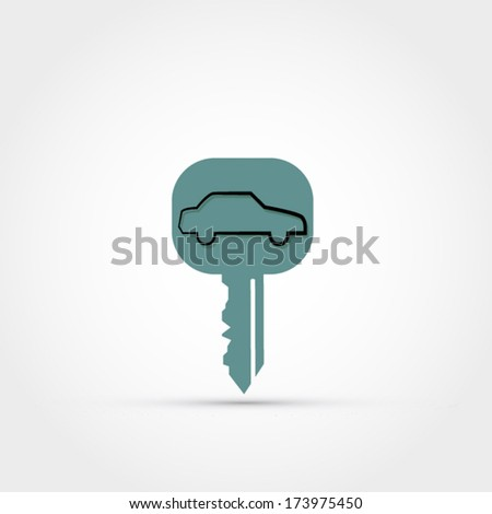 Car key vector - stock vector