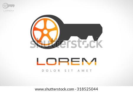 Car keys vector. Car logo. - stock vector