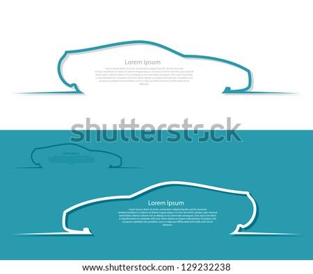 Car labels - vector illustration - stock vector
