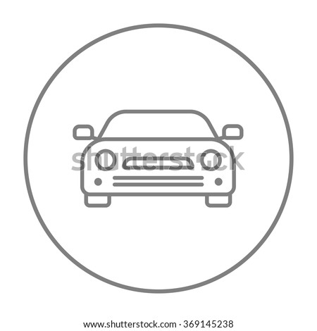 Car line icon. - stock vector