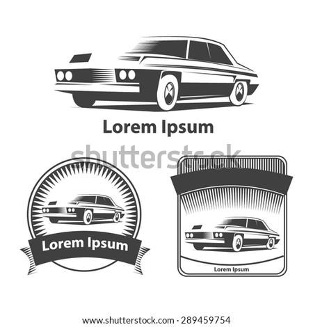 car logo cars and simple frames simple vector illustration