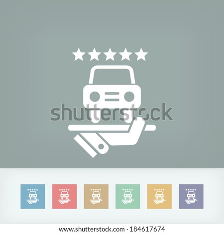 Car luxury services icon - stock vector