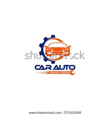 Car Maintenance Logo Template - stock vector