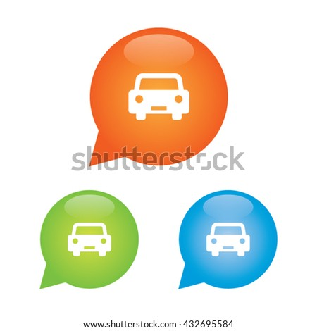 Car Marker Icon - stock vector