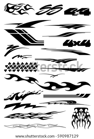 Car motorcycle racing vehicle graphics vinyls decals