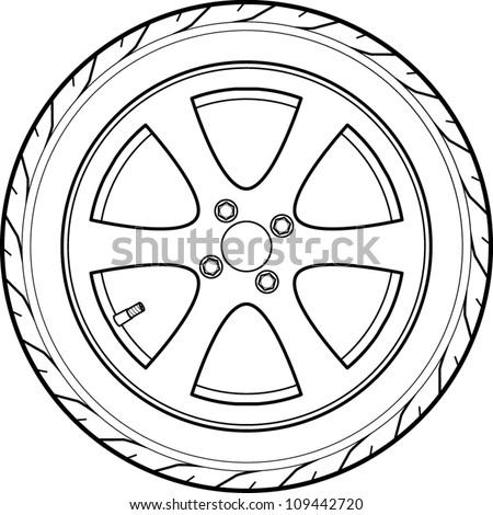 Car Wheels Car Wheels Drawing