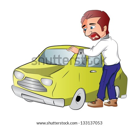Car Owner, vector illustration
