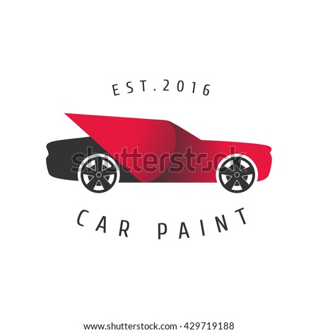 Car paint vector logo. Template design element for business related to painting, service, parts, car decoration, cosmetics - stock vector