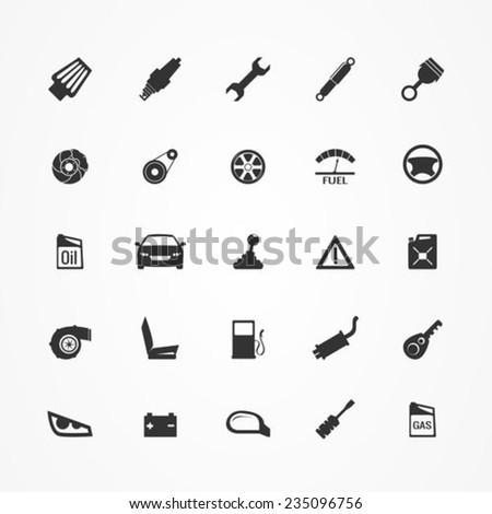 Car Parts Icons Set 235096756
