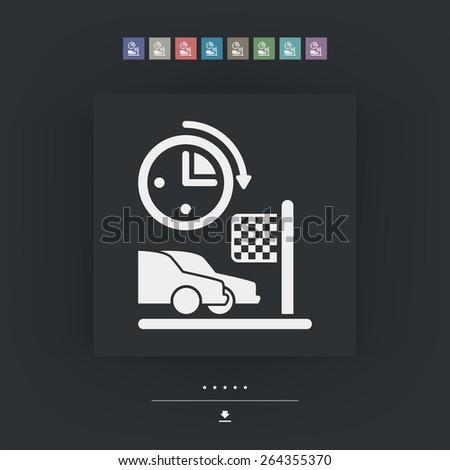 Car race icon - stock vector