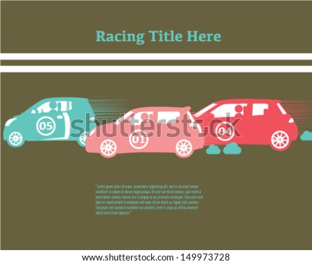 Car Racing - stock vector