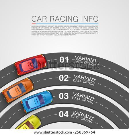 Car racing info art cover. Vector Illustration - stock vector