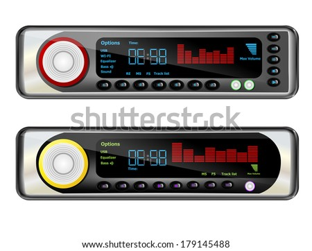 Car radio - stock vector