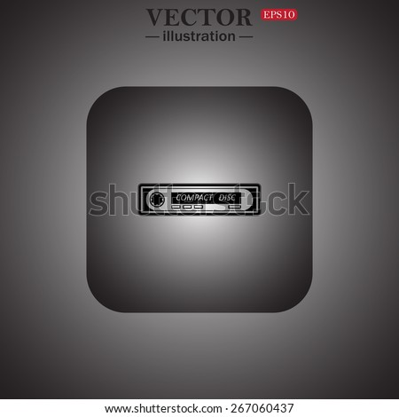 Car radio. Modern Car Audio, web icon. vector design