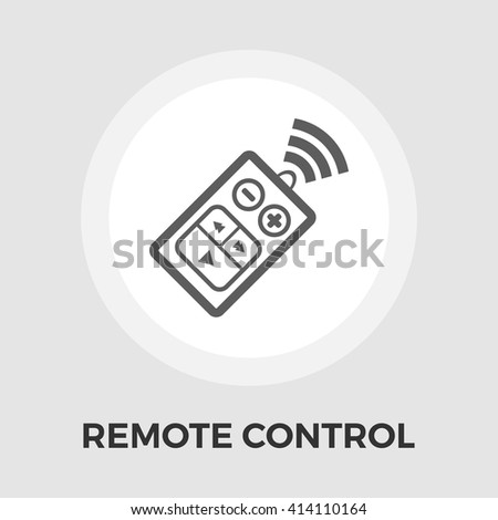 Car remote control icon vector. Flat icon isolated on the white background. Editable EPS file. Vector illustration. - stock vector