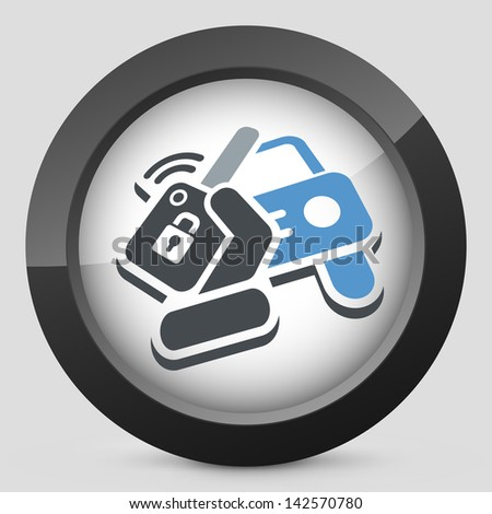 Car remote control key - stock vector