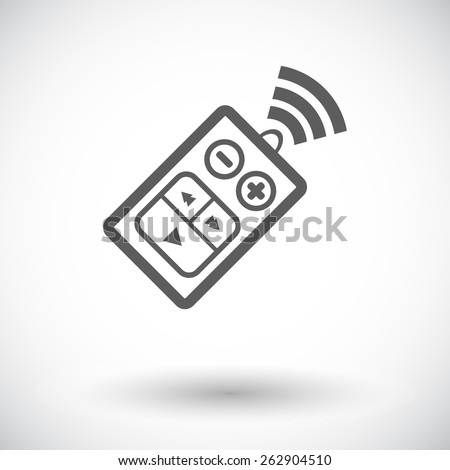 Car remote control. Single flat icon on white background. Vector illustration. - stock vector