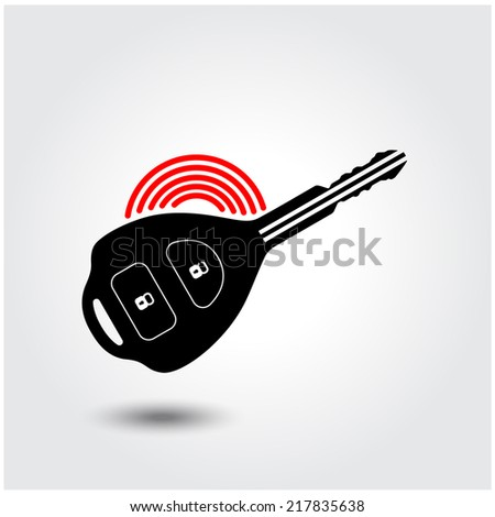Car remote key symbol . Vector illustration - stock vector