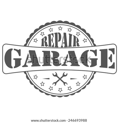 Car repair garage logo and picture - stock vector