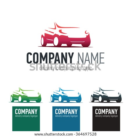 Car repair or delivery service label. Vector logo design template. Concept for automobile repair service, spare parts store.  - stock vector