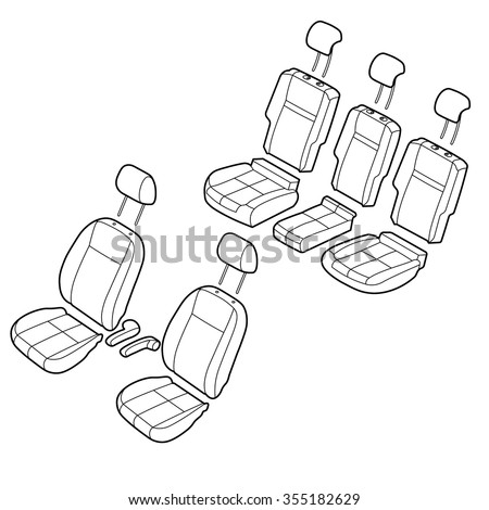Car seats outline isometric drawing vector vector de stock355182629 car seats outline isometric drawing vector malvernweather Images