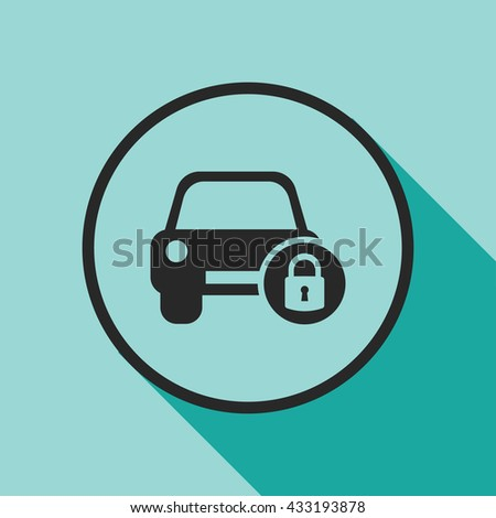 car security icon. car security vector illustration  - stock vector