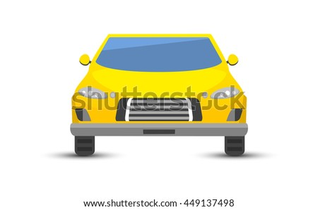 Car sedan vehicle transport type design sign technology style vector. Generic sedan car design flat vector illustration isolated on white. Transport sedan object - stock vector