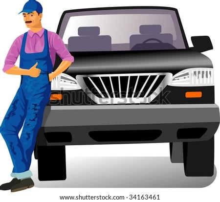 Car service - stock vector