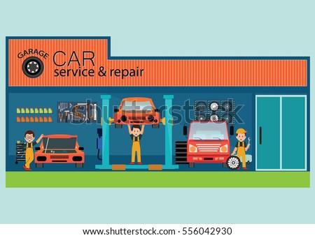 Tire shop stock images royalty free images vectors for Garage fix auto nimes