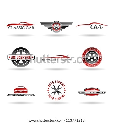 Car service and Repairing icon set. Vol 1. - stock vector