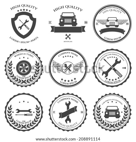 Car service. Auto parts. tools Icons set. Vector illustration - stock vector