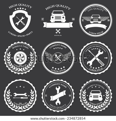 Car service. Auto parts. tools Icons set Vector illustration - stock vector