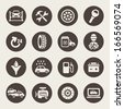 Car service icon set - stock