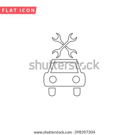 Car service Icon Vector.  - stock vector