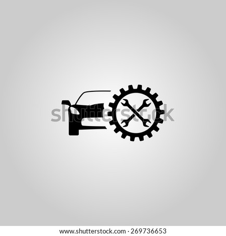 Car service icon. Vector illustration