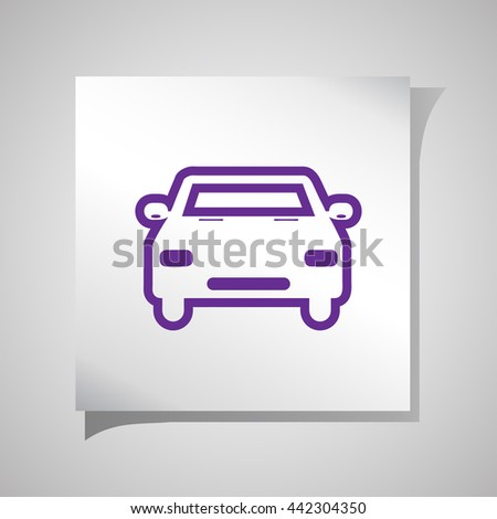 Car service icons. Auto parts. - stock vector