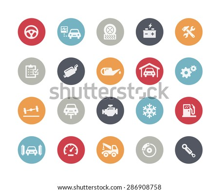 Car Service Icons // Classics Series - stock vector