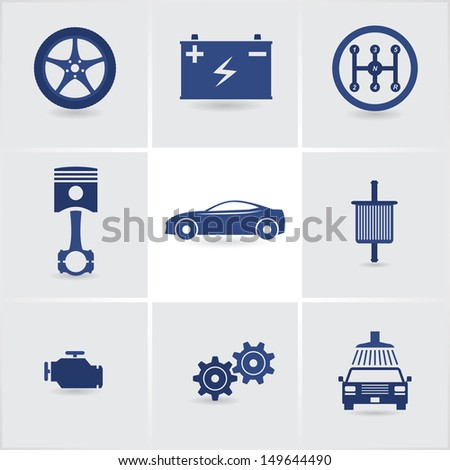 car service icons set 2. eps10 - stock vector