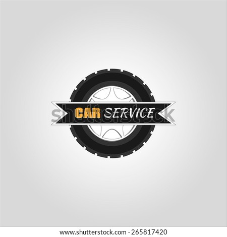 Car service logo template - stock vector