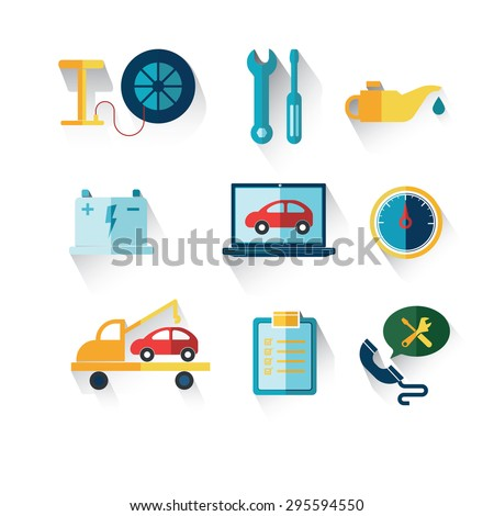 Car service maintenance icon - stock vector