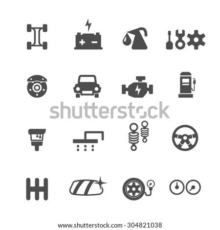 Car service maintenance set icons,Vector - stock vector