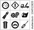 car service set - stock photo