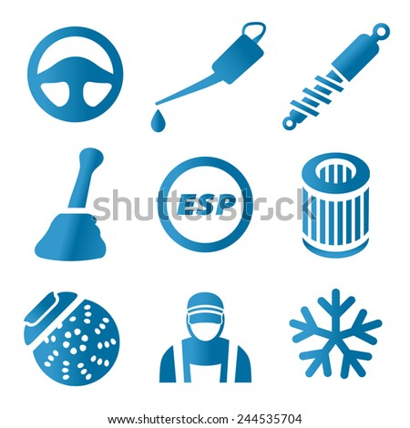 Car service - set icons - stock vector
