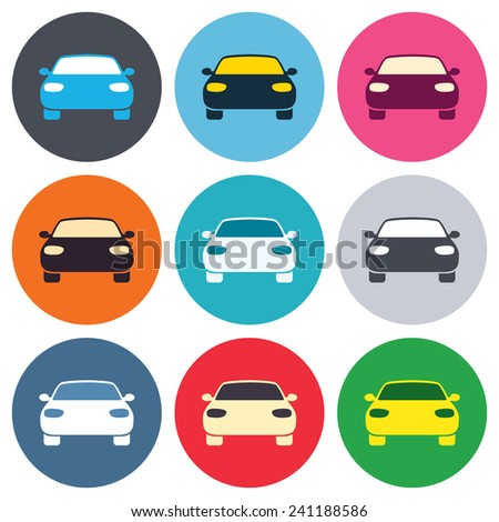 car sign icon delivery transport symbol stock vector 241188586 shutterstock. Black Bedroom Furniture Sets. Home Design Ideas