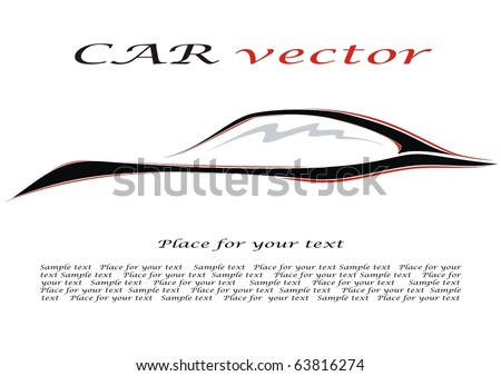 Car. Silhouette of the car. Vector illustration for your design. - stock vector