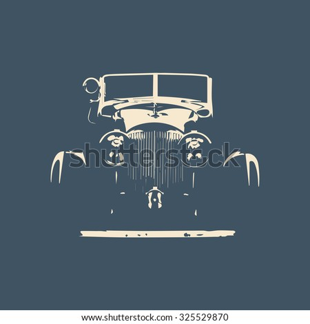 Car silhouette. Retro car. Sport car. Vector illustration - stock vector