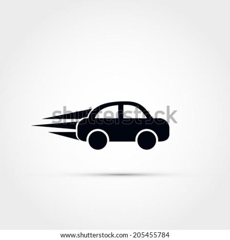 Car speeding vector icon - stock vector