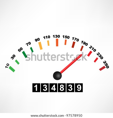 Car speedometer - stock vector
